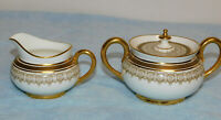 Vintage Cauldon English A. French & Co Boston Cream & Sugar Set Excel. Cond.