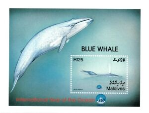 VINTAGE CLASSICS - Maldives 2349 - Blue Whale Year of the Ocean - S/S - MNH