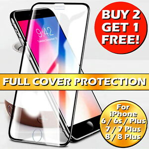 For iPhone 6 7 8 Plus SE 2 (2020) 20D Full Cover Tempered Glass Screen Protector