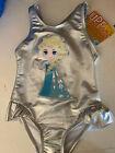 NWT Disney Frozen Elsa swim suit UPF 50 size 4 girls