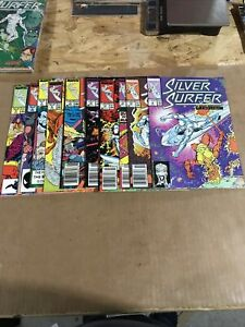 silver surfer comic lot 4-6,8,11-,13,15,16,19