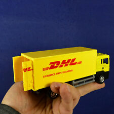 Yellow 1:64 Diecast Container Truck For Express Dhl Model Toy Kids Gift Car