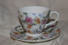 St George Tea Cup And Saucer Flowers Floral Fine Bone China