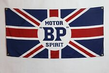 Motor BP Spirt Banner Flag - mini jaguar austin martin land rover bentley lotus