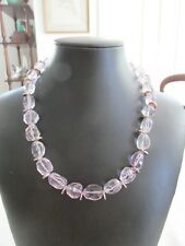 Quality Sterling Silver Amethyst Choker or Short Necklace New Ex Jeweller Stock