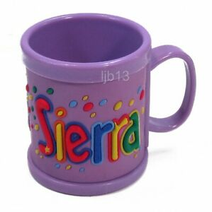 NEW SIERRA Childs Kids My Name Personalized Mug Cup  John Hinde Plastic 3D