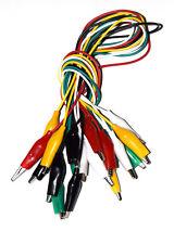10 cables 40cm. pinza cocodrilo aisladas nuevo