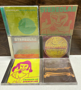 STEREOLAB Lot 6 CD's Cobra Phases Switched On Space Age Mars Audiac Dots Refried