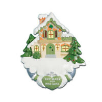 YEAR-ROUND Kurt Adler Holiday Ornament//Inspirational God Bless Our Home Cross