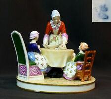 C 1910 groupe porcelaine volkstedt Muller 21cm1.6Kg le souper meissen saxe