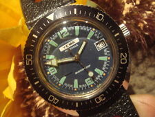 VINTAGE YEMA  DIVER WATCH WITH TROPIC STRAP