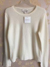 New ELLEN TRACY 100% Cashmere Knit Sweater Size:XL UK BNWT