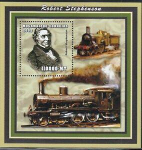 MOZAMBIQUE Robert Stephenson, Railway Engineer MNH souvenir sheet