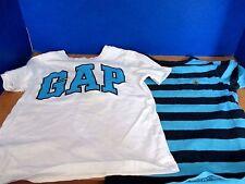 BABY GAP~Lot of 2 SHORT SLEEVE Tee T-SHIRTS~White Blue Navy~Boys Size 4
