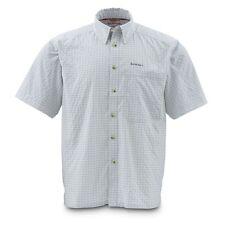 Simms Morada Short Sleeve Shirt ~ Ash Grey Plaid  NEW ~ Closeout Size Small