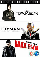 TAKEN / HITMAN / MAX PAYNE TRIPLE PACK [2007] (2 NEW REGION 2 DVD