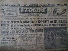 CYCLISME TOUR DE FRANCE BOBET KUBLER TENNIS COUPE DAVIS DAVIDSON L'EQUIPE 1954