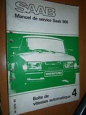 Saab 900 : manuel atelier partie 4 Boite vitesses automatique 1979 à 1982