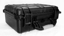 Tactical Case 16 Inch Black, Cubed Foam Interior for Equipment Weather/Water
