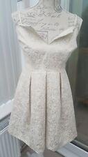 PRIMARK ATMOSPHERE CREAM GOLD DRESS BRIDESMAID WEDDING Size  10