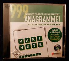Denkspiel 1 PC - CD ROM 999 Anagramme! Rätsel Lernsoftware