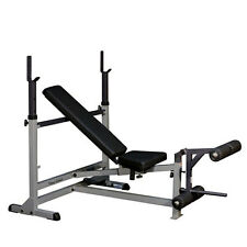 Body-Solid GDIB46L Adjustable Olympic Weight Bench w/ Leg Station Home Gym