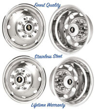 "16"" FORD E350 E450 8 LUG 8 HOLE DUAL STAINLESS WHEEL COVER RIM LINER HUBCAPS ©"