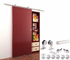 8 FT Modern Stainless Steel Interior Sliding Barn Wood Door Hardware Track Set