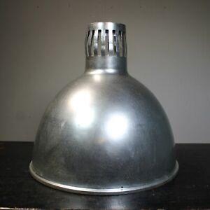 Vintage industrial aluminium light shade large size genuine old factory original