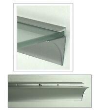Profil Klemmleiste LINO10 silbermatt Aluminium für 10mm Glasböden /Wandregal