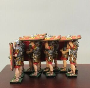Painted Tin Toy Soldier Tortoise formation 54mm 1/32