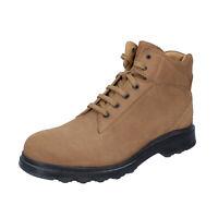 Chaussures Hommes TOD'S 39 Ue Bottines Beige en Daim BP730-39