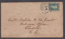 "**CSA Cover, SC# 9, Charlottesville, VA, 10/8/1863, ""Ten"" Cents Vanzandt"
