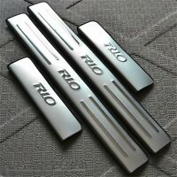 Stainless Steel Door Sill Scuff Plate For KIA K2 Rio 2010 2011 2012 2013 2014