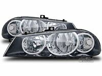 Black CLEAR FINISH Headlight Set PAIR for Alfa Romeo 156 Facelift 03-05