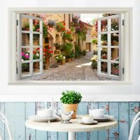 Self-Adhesive Removable Wall Sticker Decal Art Home Decor Fake Window Landscape