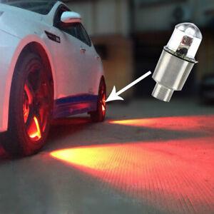 4pcs Auto Car Wheel Tyre Tire Air Valve Stem LED Light Caps Cover Accessories