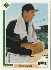 Dave (Rags) Righetti Giants Pitcher 1991 Upper Deck # 778 16 yrs in MLB