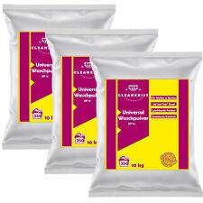3x 10 kg Premium Universal Waschpulver I Vollwaschmittel I bis 750 Waschladungen