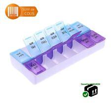 Pilulier 7 jours Semainier pour Médicaments Boite à Pilule Organiseur Comprimés
