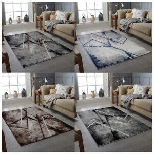 MODERN DESIGN RUG SILVER GREY SOFT LARGE LIVING ROOM FLOOR BEDROOM CARPET RUGS
