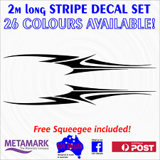 "2m long ""WAVE"" STRIPE STRIPING boat,half cabin,bowrider,tinny decal sticker set!"