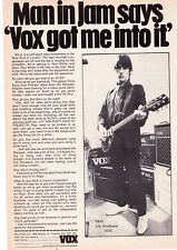 "1982 Paul Well/The Jam ""Vox"" Amps Vintage Print Advertisement"