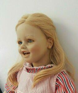 """LISA Annette Himstedt 1987 Barefoot Children #3419 27"""" Vinyl Doll w/Human Hair"""