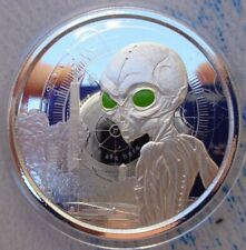 2021 Ghana ALIEN silver colored UV proof coin .999 fine silver in Display Box