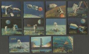 AOP Bhutan #108-108K 1969 Apollo 11 Moon Landing 11v 3D stamps MNH