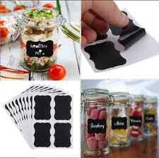 36pcs Chalkboard Blackboard Chalk Stickers Decals Craft Kitchen Jar Labels Black