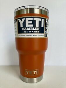 YETI 30 oz CLAY Rambler Tumbler Cup MAGSLIDER LID Limited Edition BURNT ORANGE