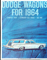 1964 Dodge Station Wagon Original Car Sales Brochure - Dart Polara 330 440 880