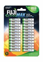24 Fuji EnviroMAX Super Alkaline AAA Eco Friendly Batteries